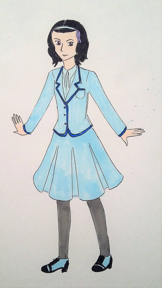 Burning Ice: Emilie in Beauxbatons uniform