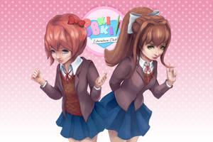 Doki Doki Literature Club by noycee