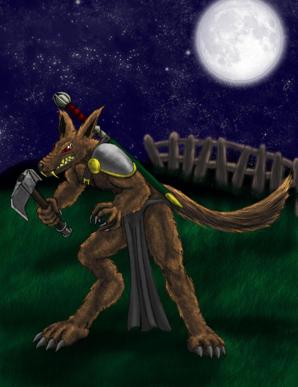Werewolf Warrior by thedropkickninja on DeviantArt Werewolf Warrior Art