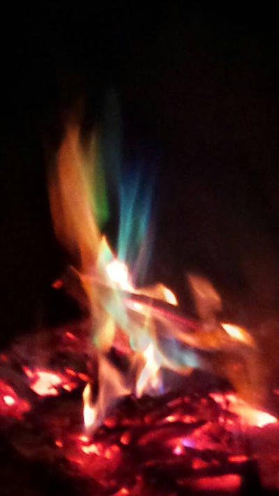 Flaming Rainbow by Major-Ren