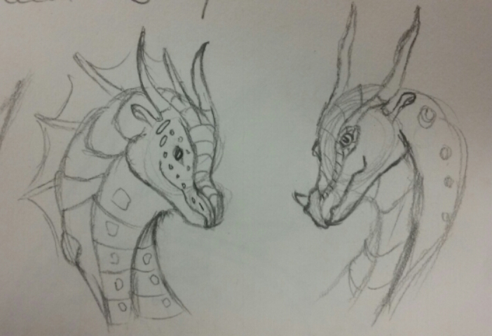 Friends- Dragon sketch by Major-Ren