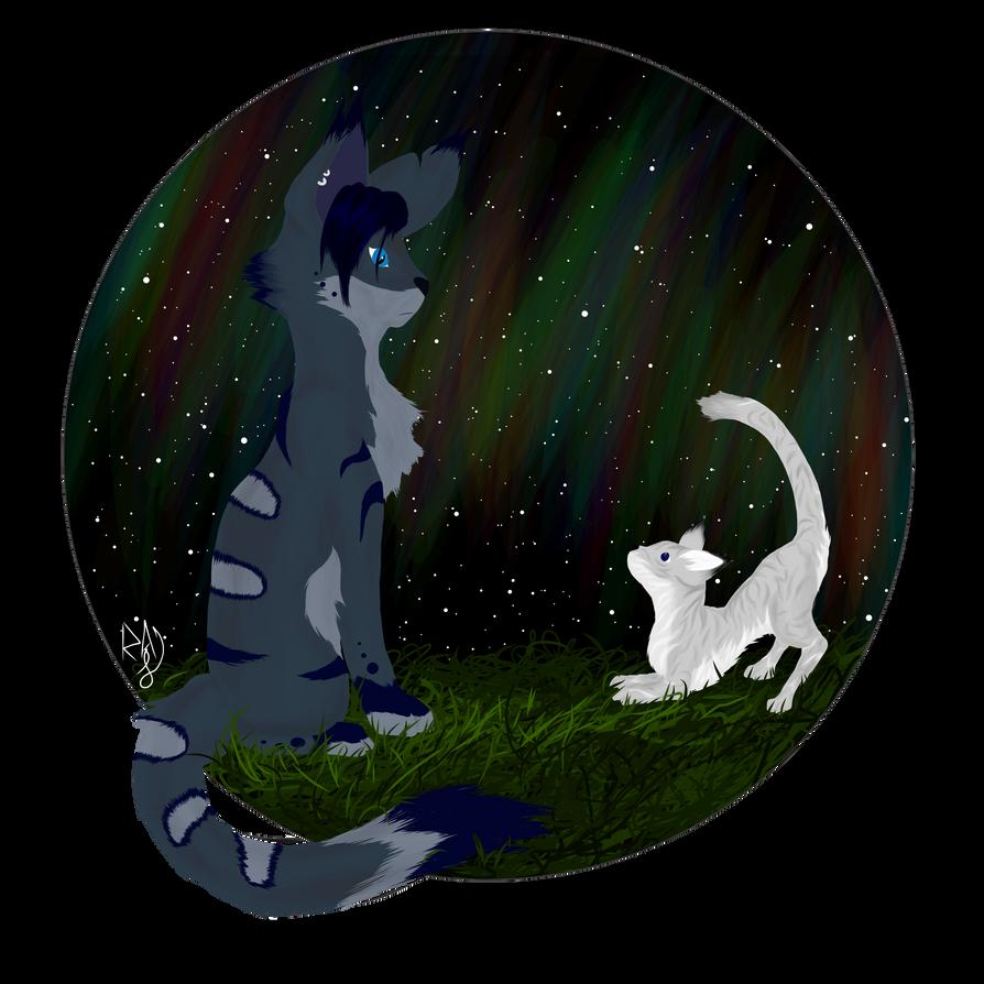 Skylar and Moon by Major-Ren