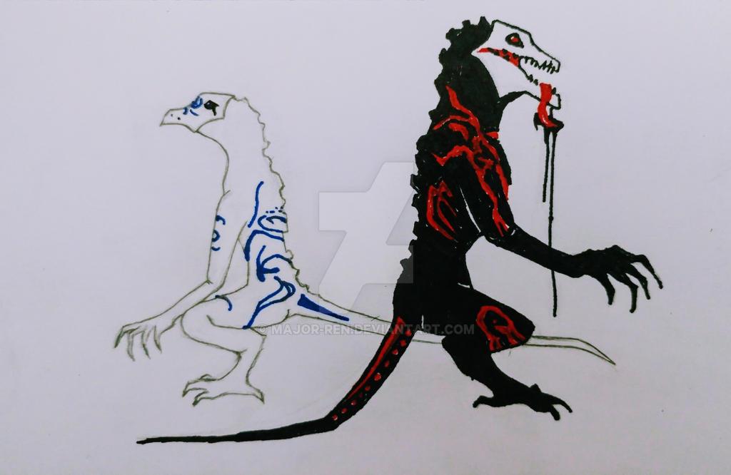 Assyri and Bane by Major-Ren
