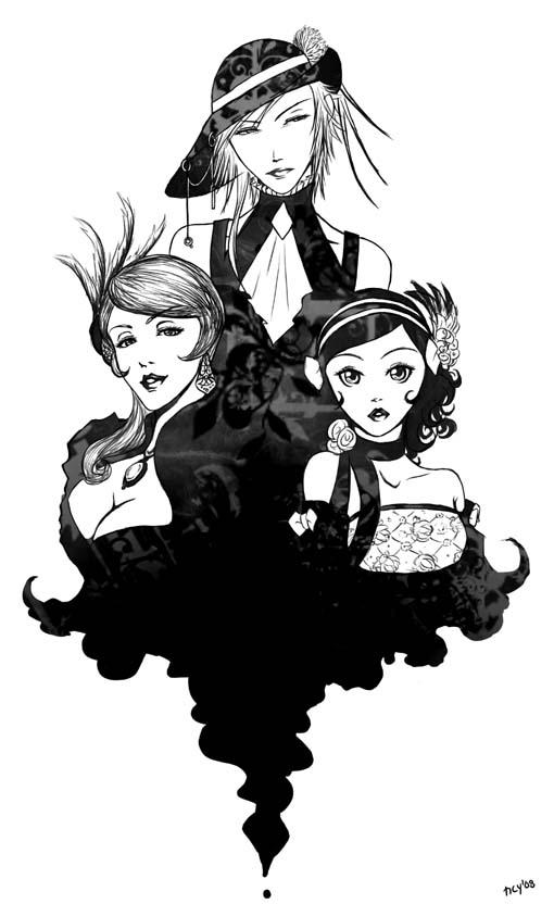splash of ink by riotycurls