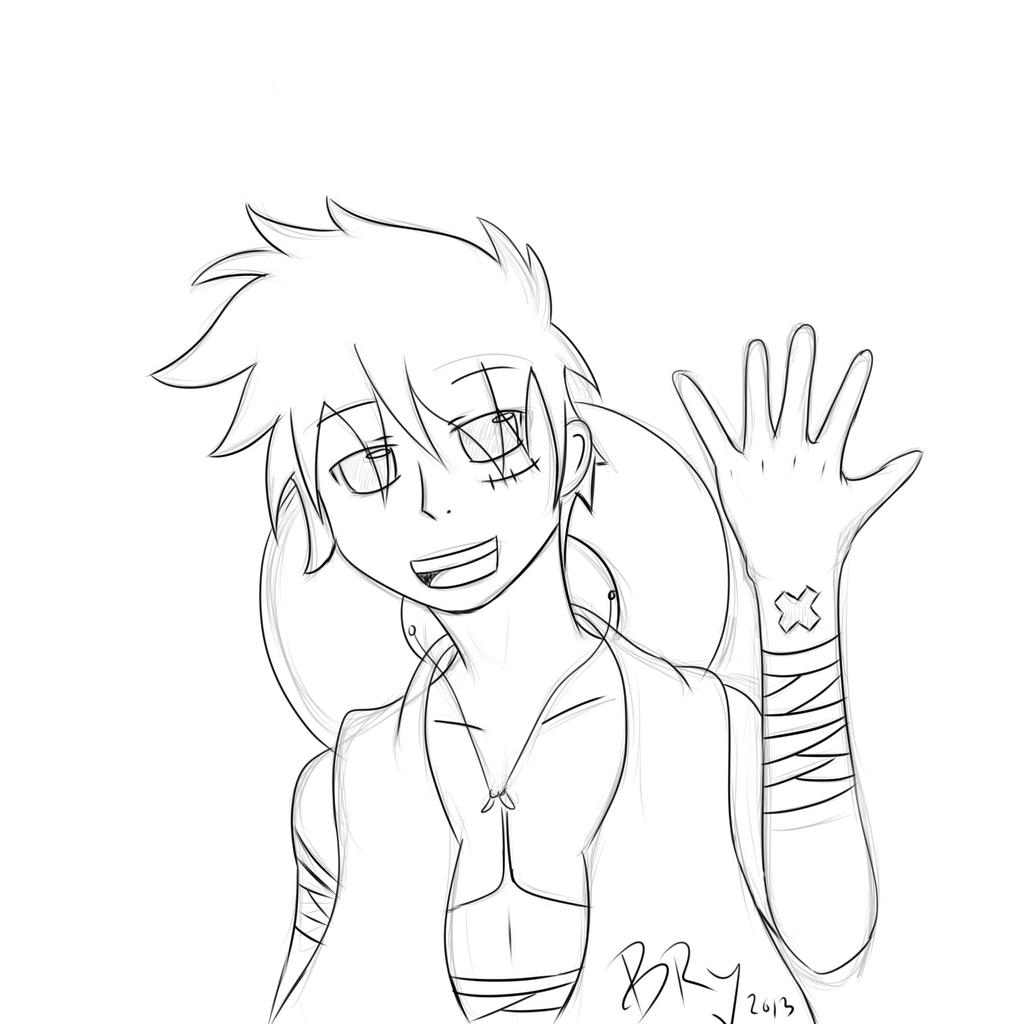 Line Art Practice : Line art practice luffy by b ry sun on deviantart