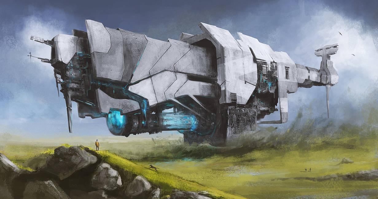 cargo ship by polaus