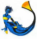 Regal blue tang mermaid