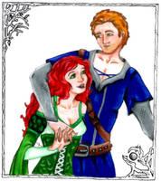 Garion and CeNedra by zepheenia
