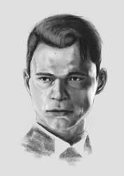 Connor in pencil by mysterythought