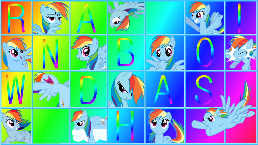Rainbow Dash Wallpaper Rainbow Dash Grid Imag...