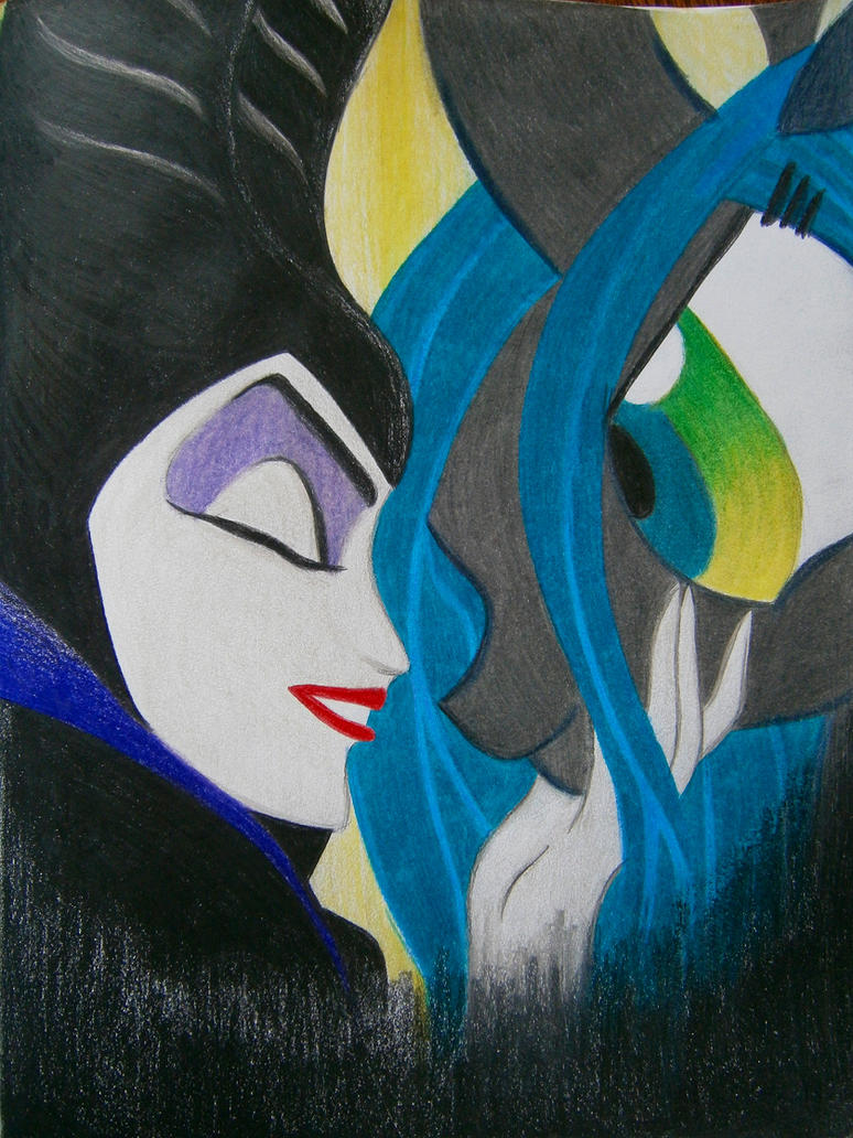 Maleficent and Chrysalis by daughterdragon
