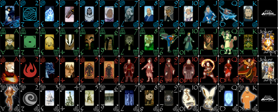 Avatar The Last Airbender Card By Sturm1212
