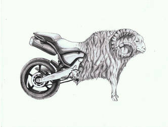 Morph 2 - Ram and a Motorcycle by nextexile