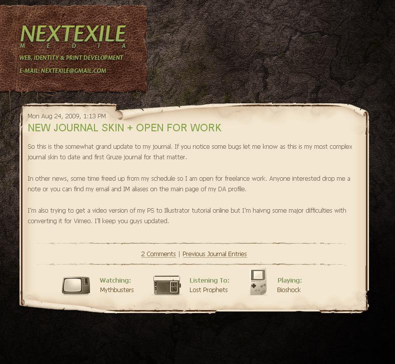 NextExile Journal Skin