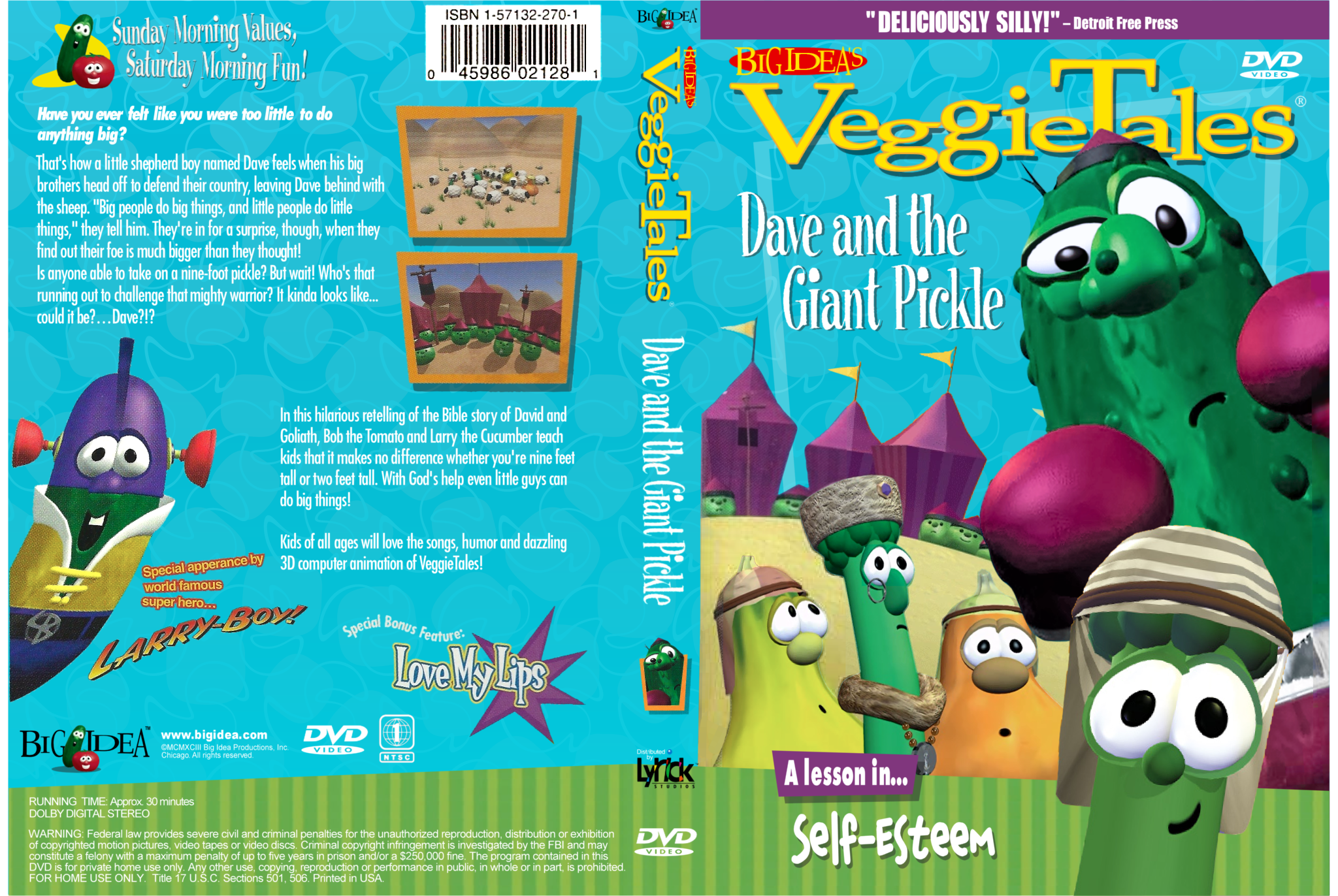 Dave and da Giant Pickle 1998 Lyrick Studios DVD by