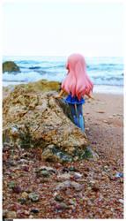 On the beach -2 by marvyanaka