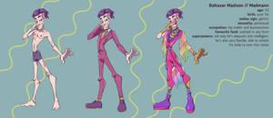 Baltazar/Madmann character sheet