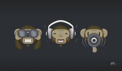 Three Wise Monkeys by Cliffjumper78