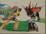 Beast Hunters Grimlock vs Predaking.