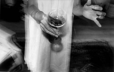 Reception - Brenda's hand by jjfanagh