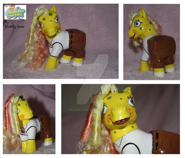 My Little Sponge Bob Pony by MadeByJanine