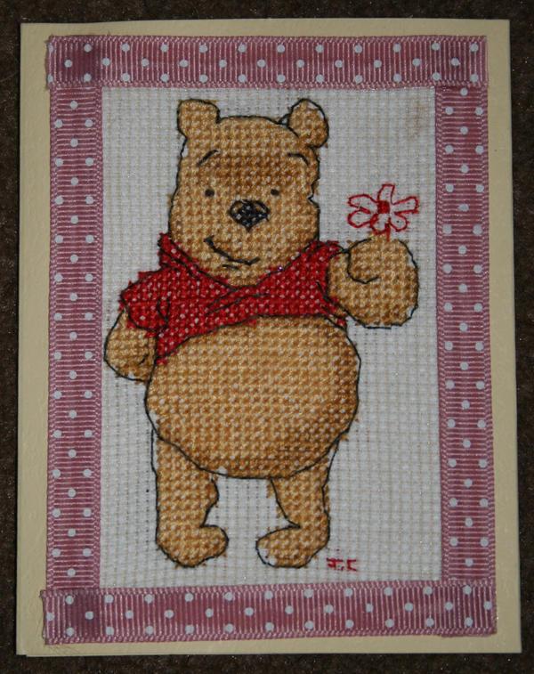 winnie the pooh cross stitch by MadeByJanine