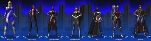 City Of Heroes Lineup by jessiesheram