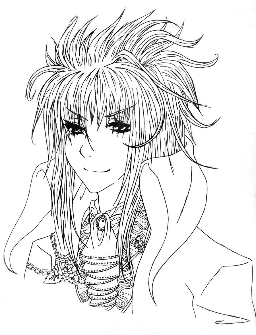 David bowie labyrinth anime coloring pages for Labyrinth coloring pages