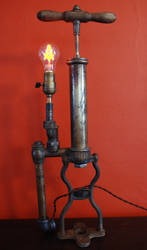 Antique Oil Cipher Lamp