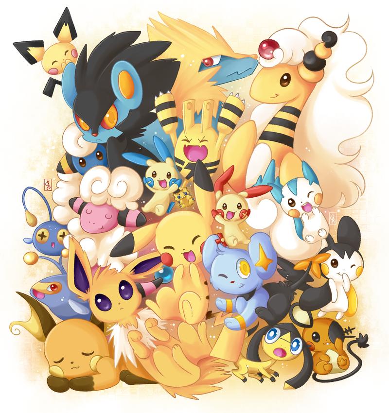 Cute electric by exceru karina on deviantart - Pokemon perle evolution ...