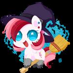 Chibi Pony Witch - Rouge Swirl