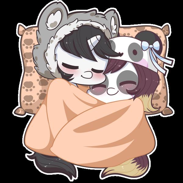 Cute nap Hunter x Pandora by Exceru-Karina