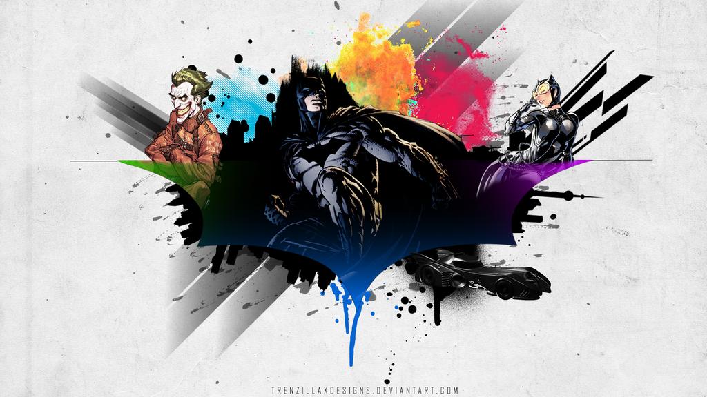 Batman Abstract Art