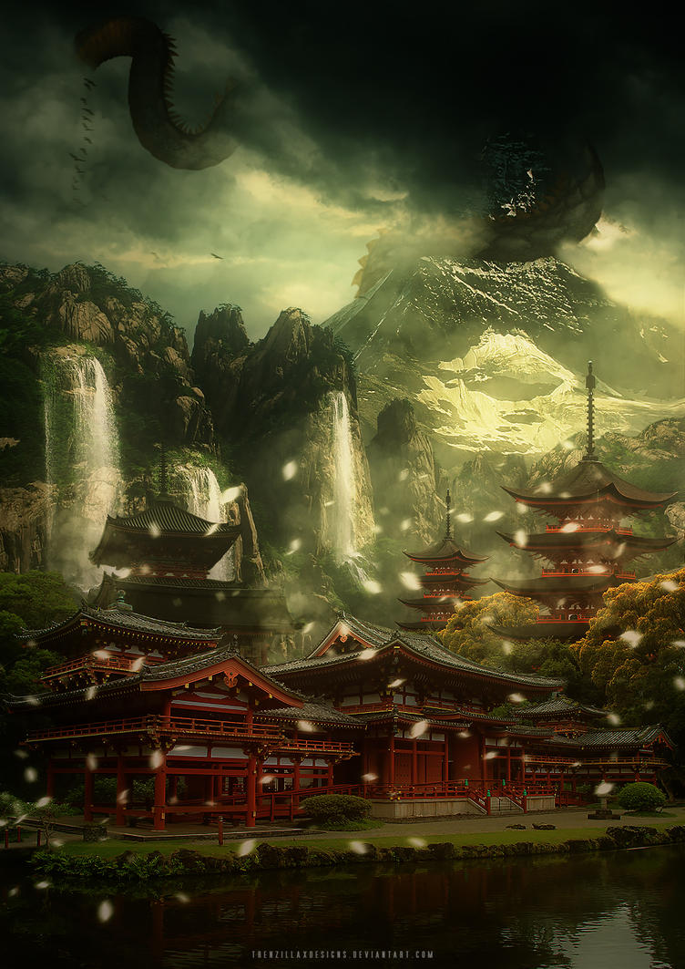 Mysterious Temples In World: Mysterious Temple In The Mountains By TrenzillaXDesigns On
