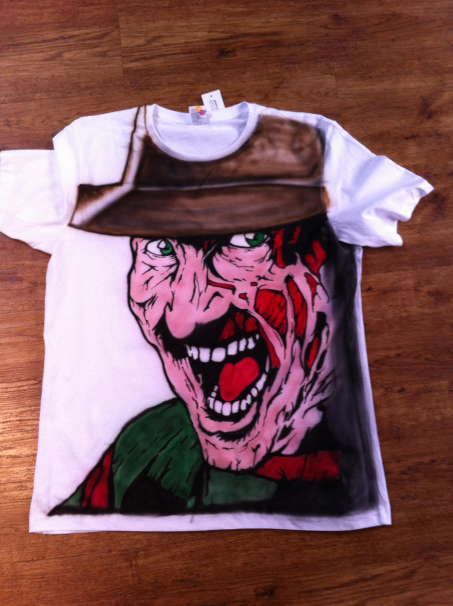Freddy Krueger tribute tshirt by BoaGrafix
