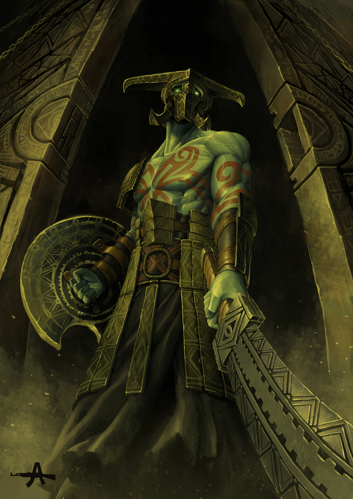 green guardian by ameeeeba