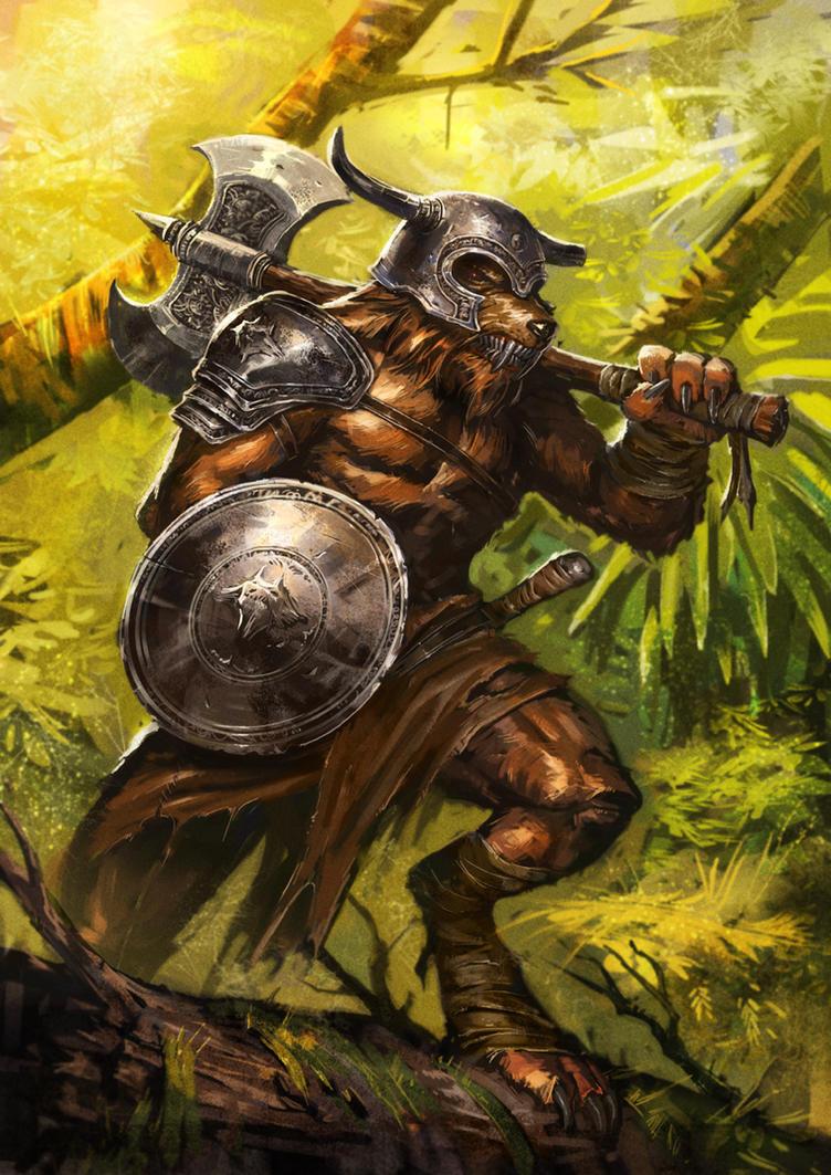 Wolf Warrior by ameeeeba
