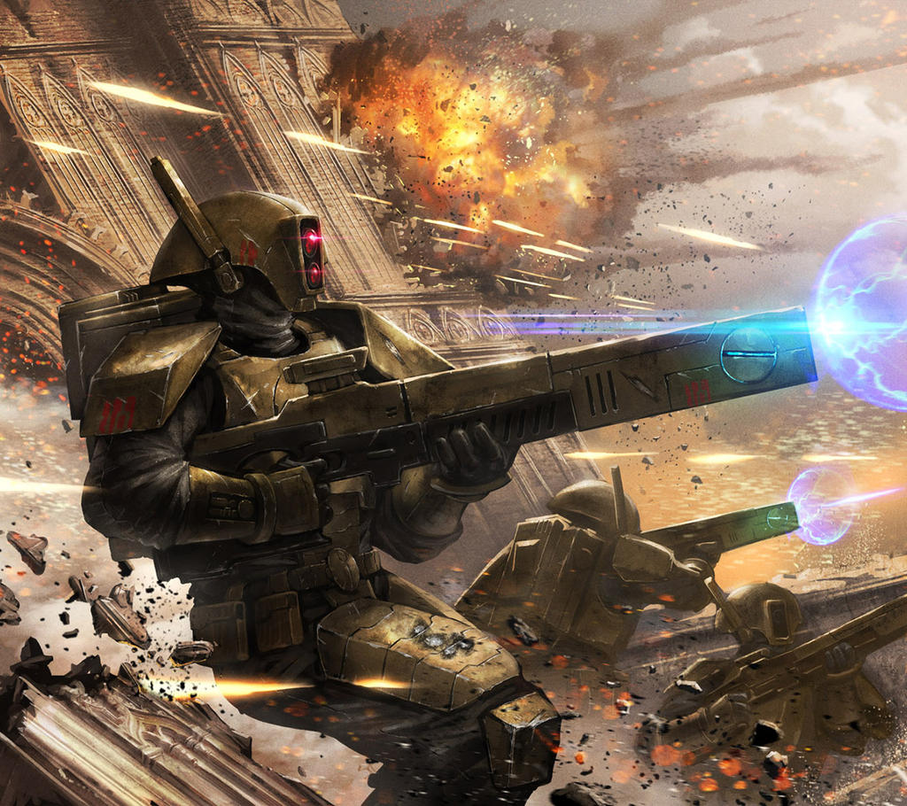 [W40K] Collection d'images : les Xenos - Page 4 Firewarrior_striketeam_by_ameeeeba-d7qqzla