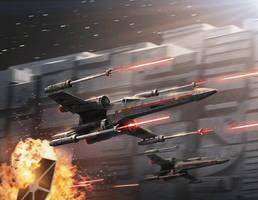 X-wing by ameeeeba