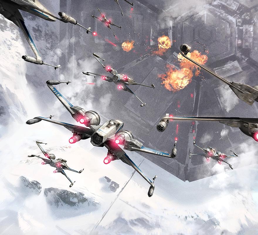 X-wings raid-2 by ameeeeba