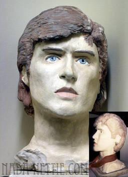 Simon LeBon of Duran Duran clay bust