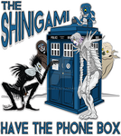Shinigami Have The Phone Box with Text