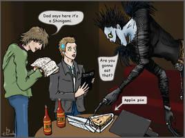 Sam And Dean Meet Ryuk - Supernatural - Death Note