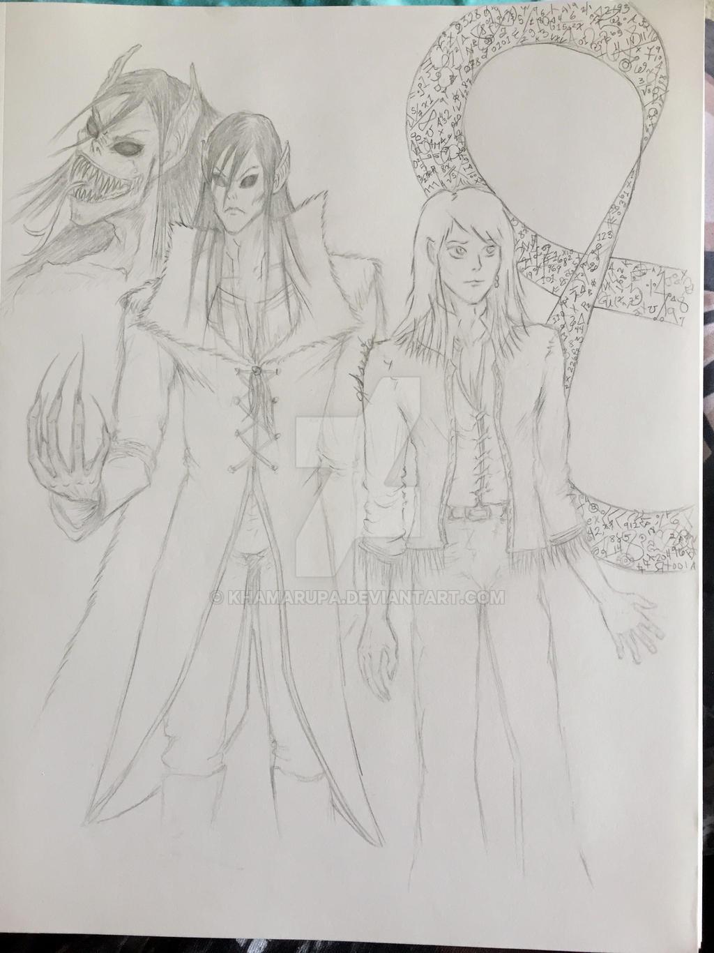 Nestor And Nathan Pencil Sketch