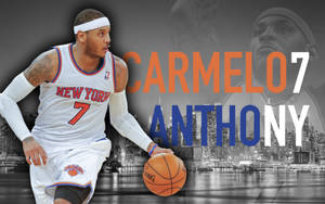 Carmelo Anthony - New York City Skyline by dixoncider123