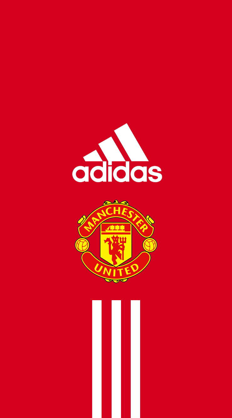 Manchester United iPhone Wallpaper - Adidas by dixoncider123