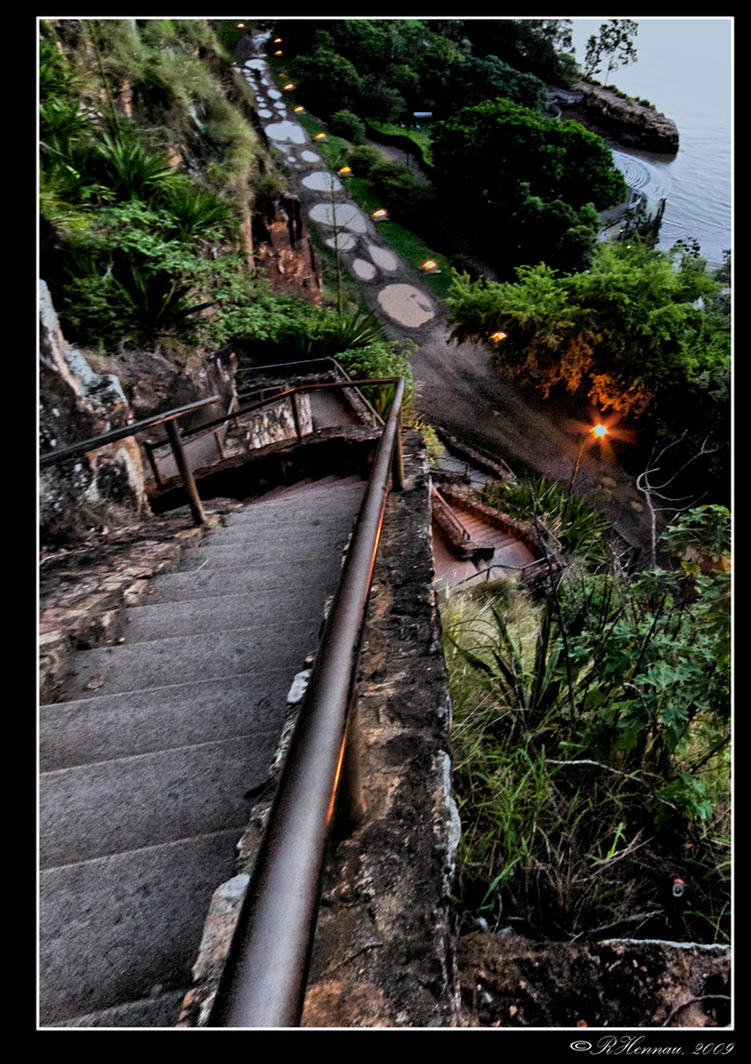 Stairs at Kangaroo point by rhennau