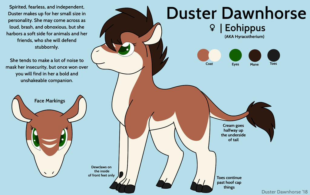 Duster Dawnhorse [Non-MLP Ref] by Rainbow-Smashed