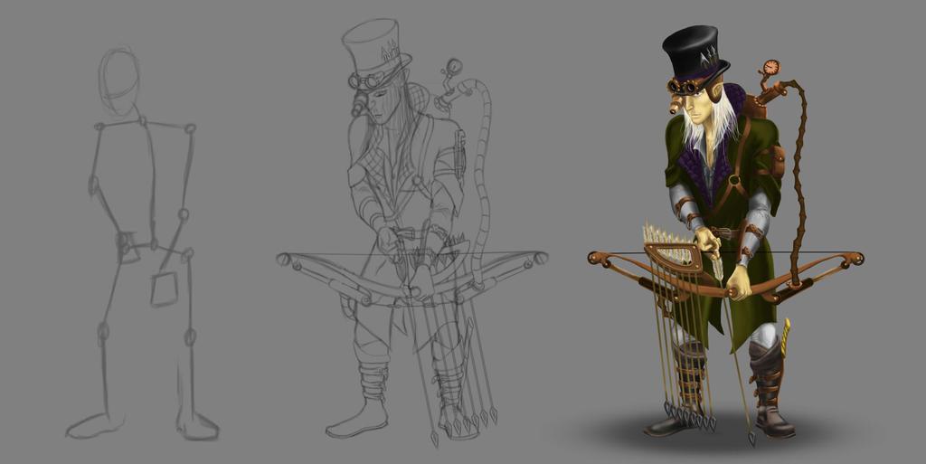 Legolas Steampunk by ArloWalker