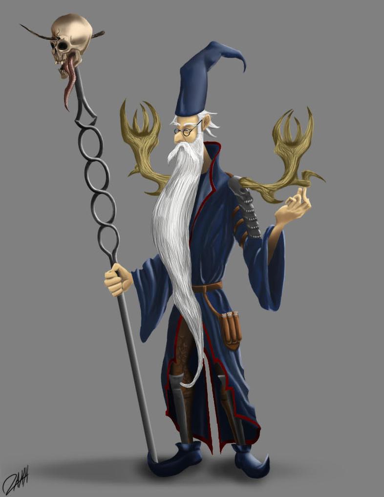 Necromancer Merlin by ArloWalker